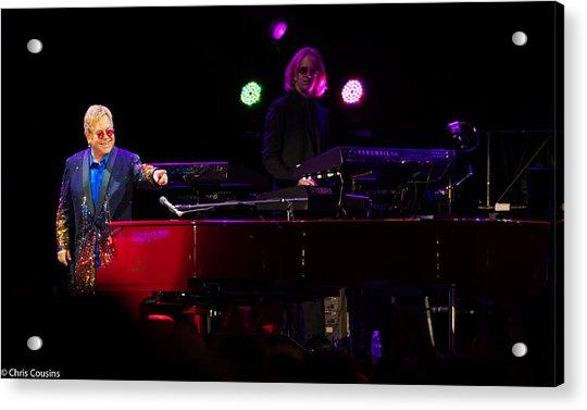 Elton - Enjoying The Show Acrylic Print