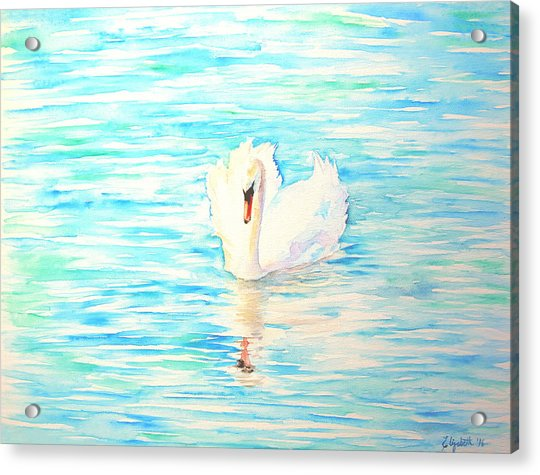 Emerald Swan Acrylic Print