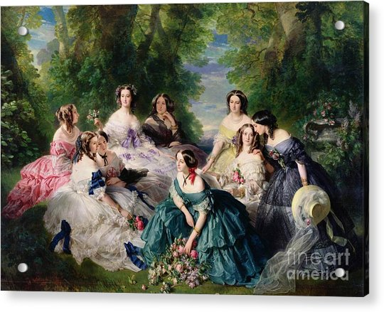 Empress Eugenie Surrounded By Her Ladies In Waiting Acrylic Print