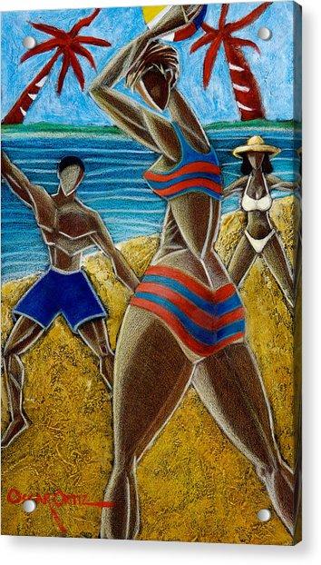 En Luquillo Se Goza Acrylic Print