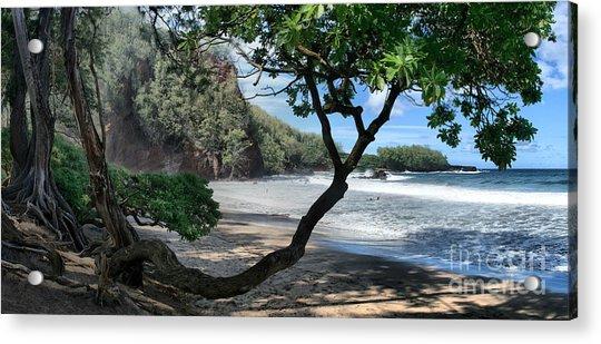 Enchanted Rocks Koki Beach Haneoo Hana Maui Hawaii Acrylic Print