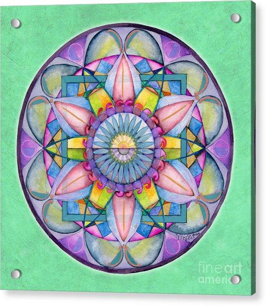 End Of Sorrow Mandala Acrylic Print