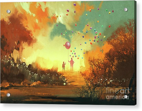 Acrylic Print featuring the painting Enter The Fantasy Land by Tithi Luadthong