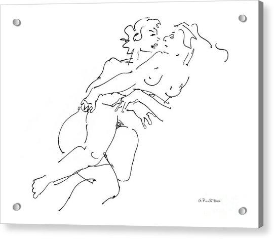 Erotic Art Drawings 13 Acrylic Print