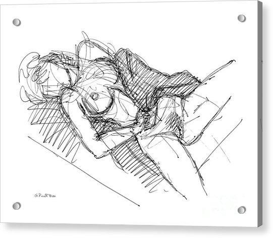 Erotic Art Drawings 7 Acrylic Print