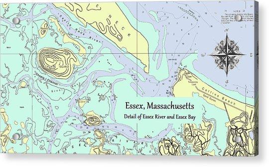 Essex River Detail Acrylic Print