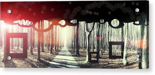 Eternity, Conceptual Background Acrylic Print