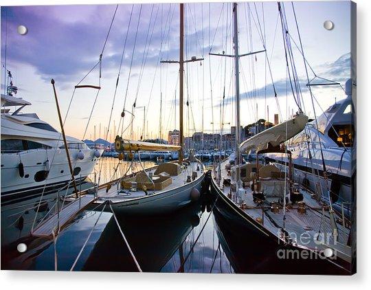 Evening At Harbor  Acrylic Print