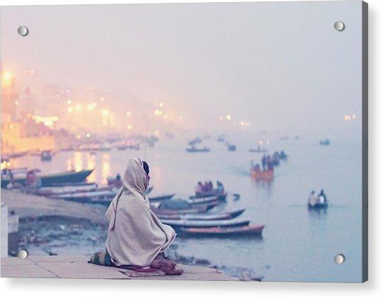 Evening At Varanasi, Varanasi, India Acrylic Print