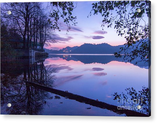 Evening By The Lake Acrylic Print