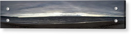 Evening Panoramic Ayr Beach, Scotland Acrylic Print