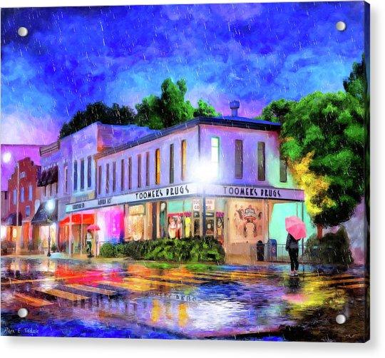 Evening Rain In Auburn Acrylic Print