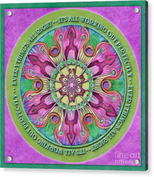 Everything's All Right Mandala Prayer Acrylic Print