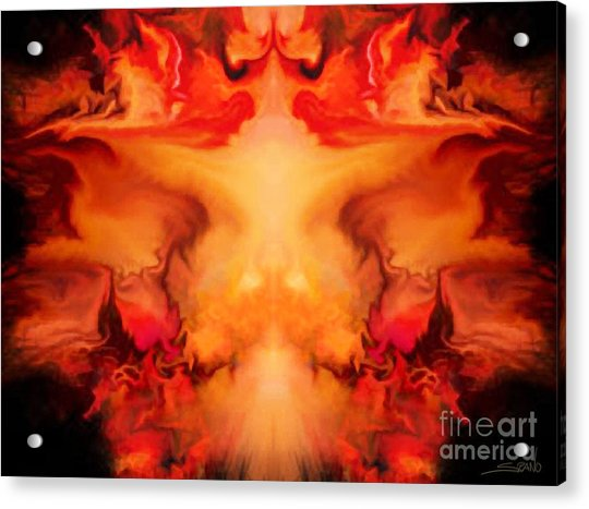 Evil Red Abstract By Spano Acrylic Print