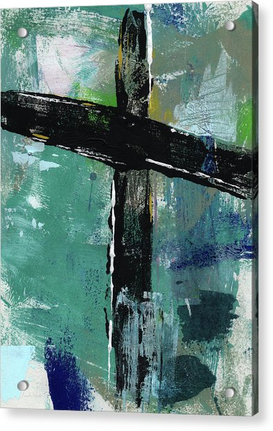 Expressionist Cross 8- Art By Linda Woods Acrylic Print