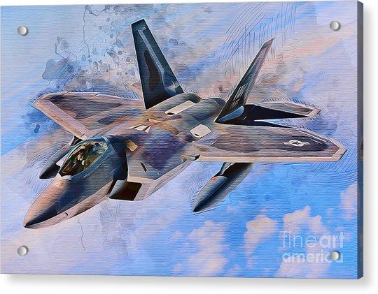 F22 Raptor Acrylic Print