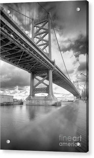Fade To Bridge Acrylic Print
