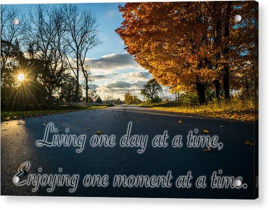 Fall Day With Saying Acrylic Print