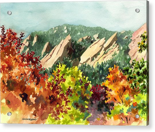 Fall Flatirons Acrylic Print