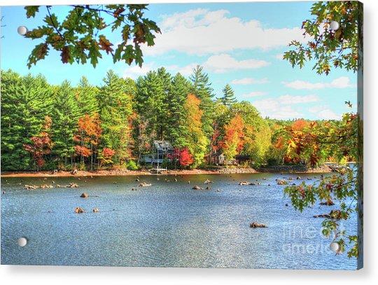Fall In New England Acrylic Print