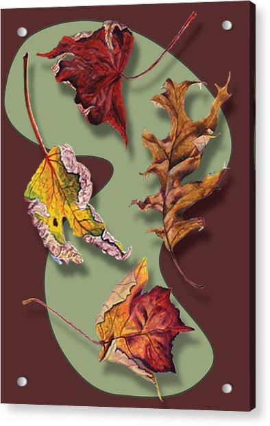 Fall Leaves Card Acrylic Print