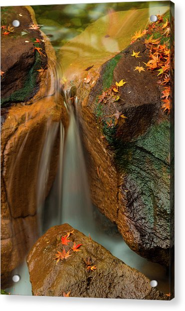 Falls In Motion Acrylic Print