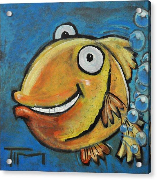 Farting Fish Acrylic Print