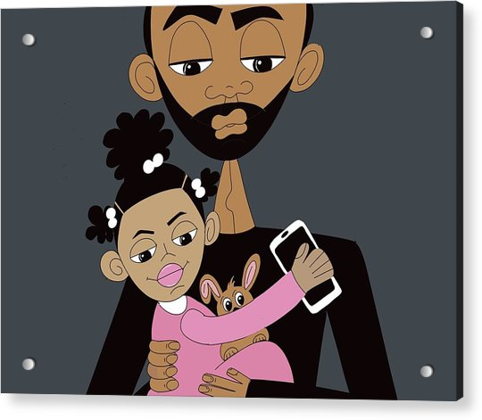 Father And Daughter Time Acrylic Print
