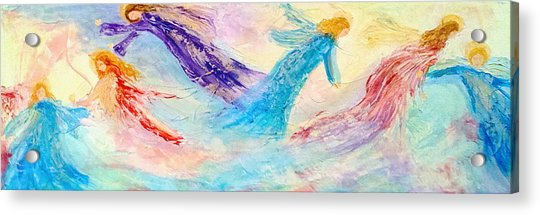 Fathers Heart Angels Acrylic Print