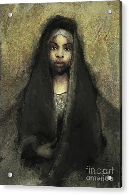Acrylic Print featuring the digital art Fatima by Dwayne Glapion
