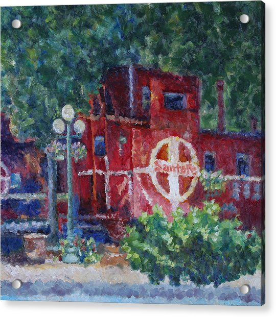 Featherbed Railroad Caboose Acrylic Print