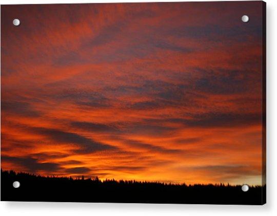 February Sunrise On The Ridge Acrylic Print