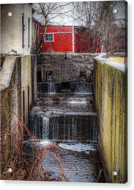 Feeder Canal Lock 13 Acrylic Print