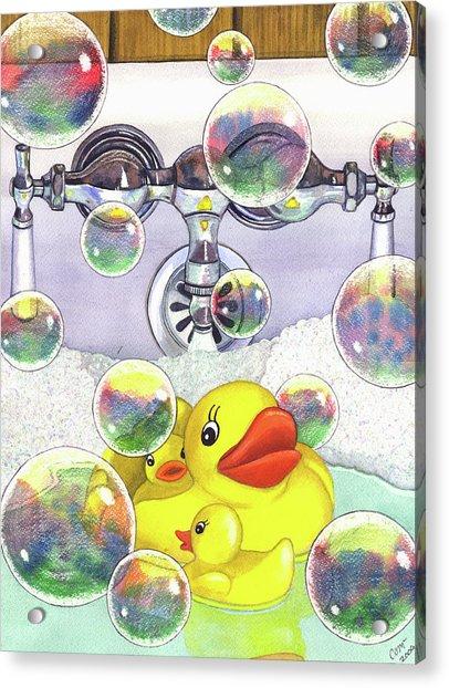 Feelin Ducky Acrylic Print