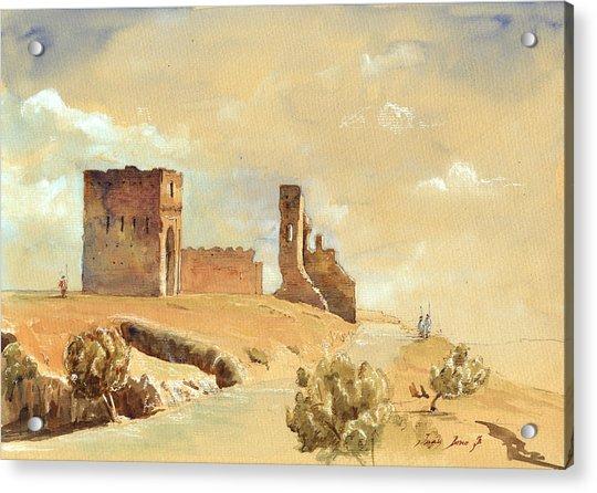 Fes Morocco Orientalist Painting Acrylic Print by Juan  Bosco