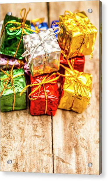 Festive Greeting Gifts Acrylic Print