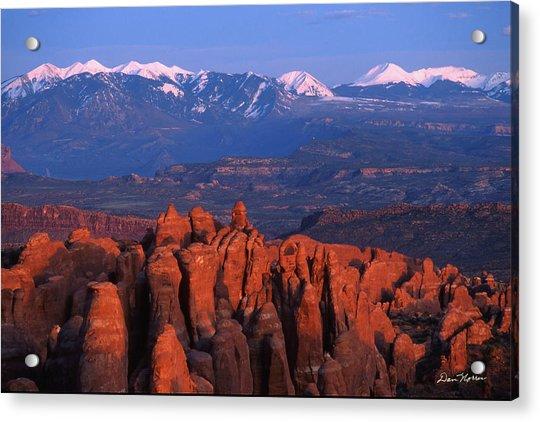 Fiery Furnace And La Sal Mountains Acrylic Print