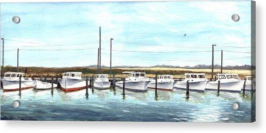 Fine Art Workboats Kent Island Chesapeak Maryland Original Oil Painting Acrylic Print