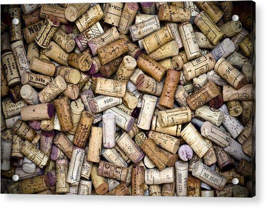 Fine Wine Corks Acrylic Print