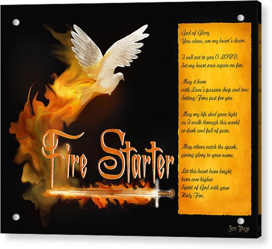Fire Starter Poem Acrylic Print