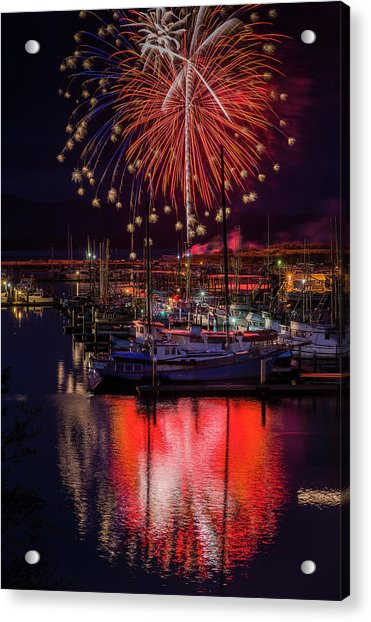 Fireworks At The Docks Acrylic Print