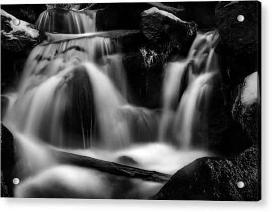 first crystals on the Bodefall, Harz Acrylic Print