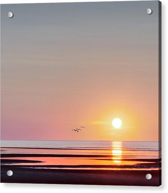 First Encounter Beach Cape Cod Square Acrylic Print