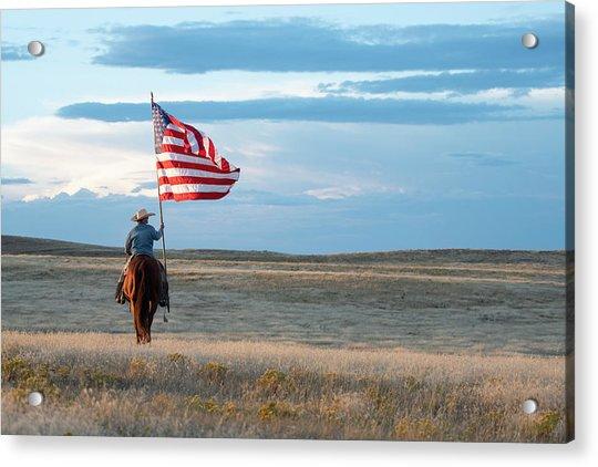Flag Of Freedom Acrylic Print