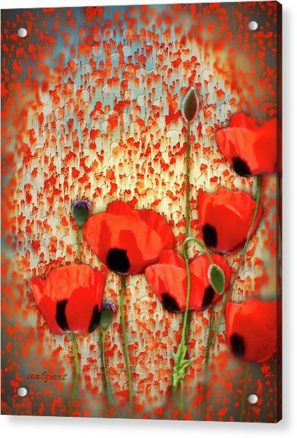 Acrylic Print featuring the painting Flanders Fields by Valerie Anne Kelly