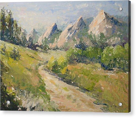Flatirons In The Rockies Acrylic Print