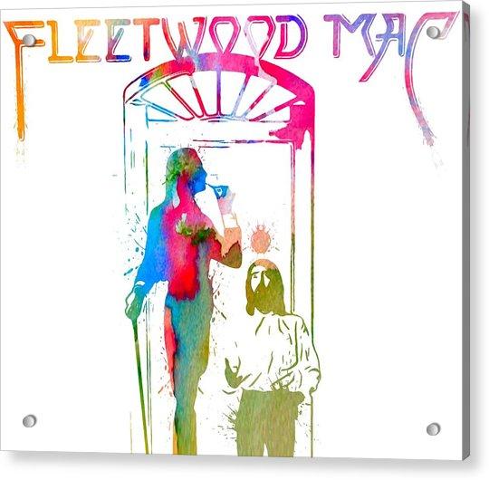 Fleetwood Mac Album Cover Watercolor Acrylic Print