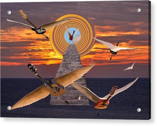 Flight Of The Guitars Acrylic Print