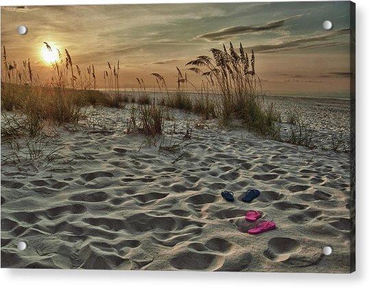 Flipflops On The Beach Acrylic Print