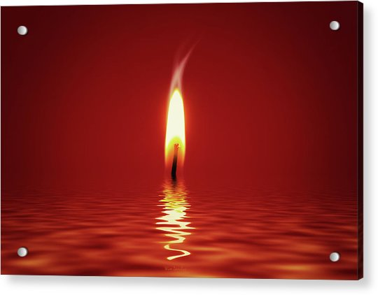 Floating Candlelight Acrylic Print
